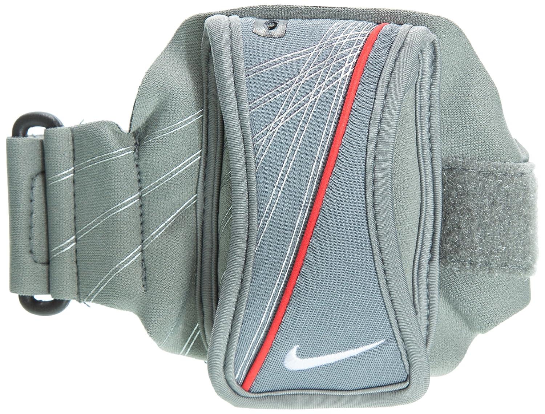 Nike Running Pulsera con Bolsillo, Grigio/Rosso NRE03019OS