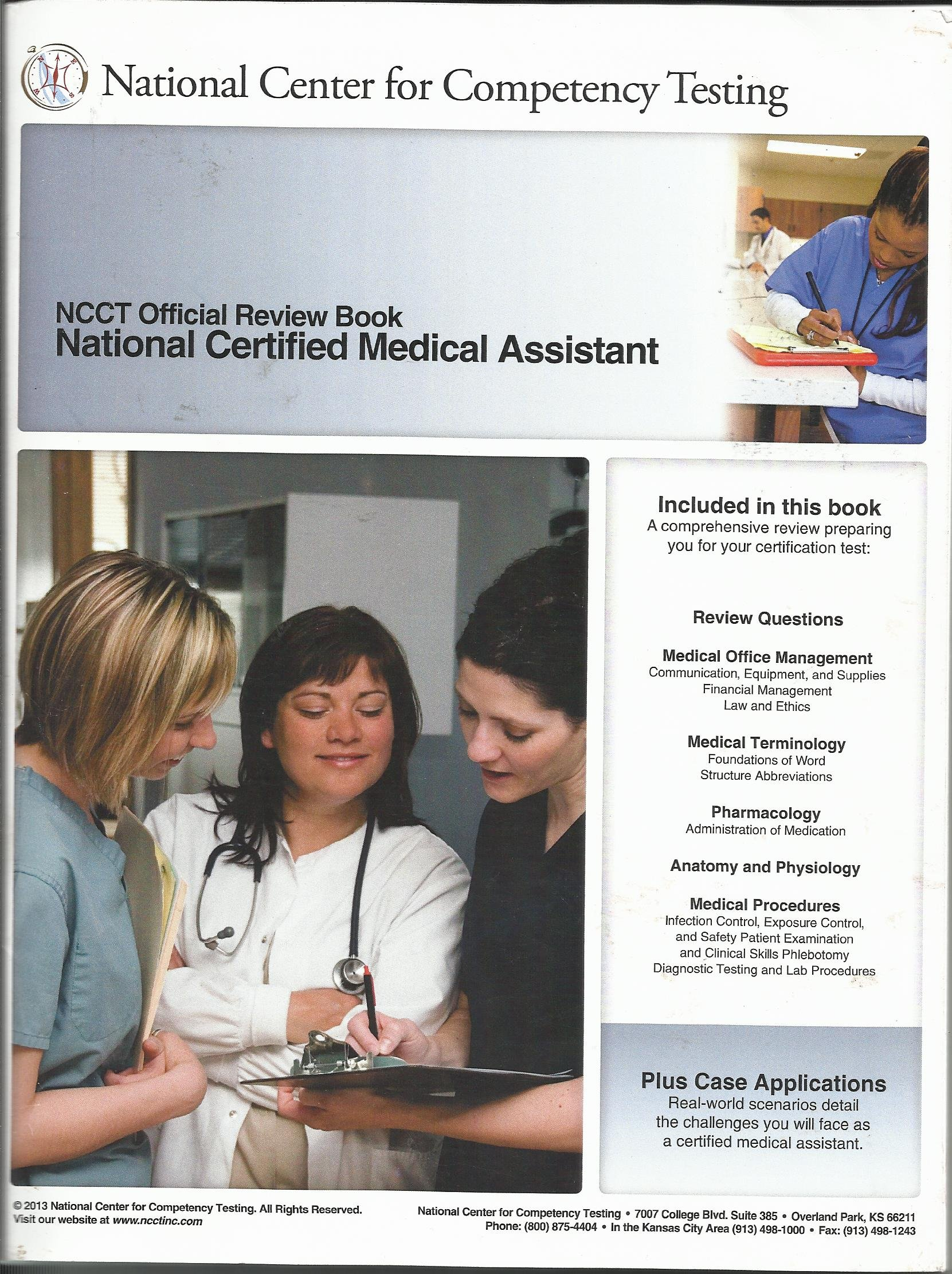 Ncct official review book national certified medical assistant ncct official review book national certified medical assistant official practice test 2 vols national center for competency testing 9781938354007 1betcityfo Gallery