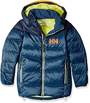 19df2597 Helly Hansen Jr Isfjord Down Mix Insulated Jacket, Dark Teal, Size 8