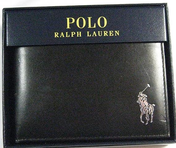 Polo Ralph Lauren - Cartera de Piel para Pasaporte con Logo ...