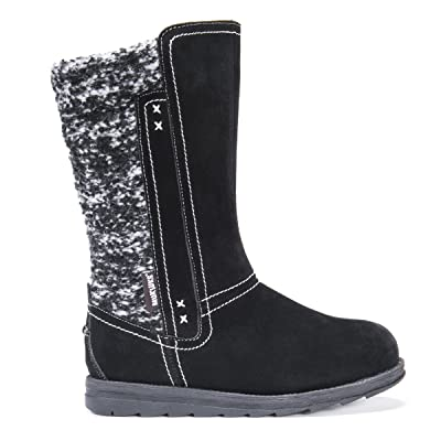 MUK LUKS Women's Stacy Boots - Ebony Black | Mid-Calf