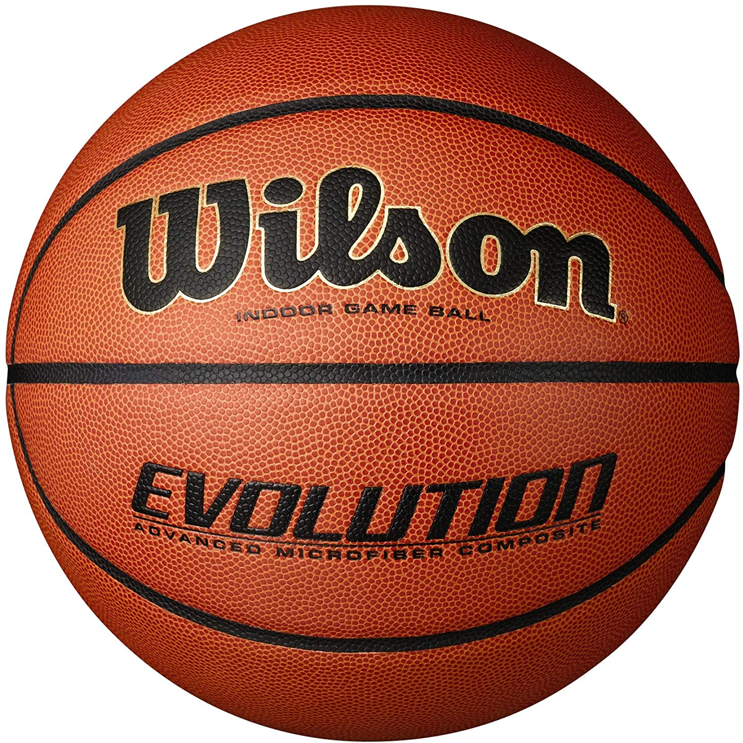 """Wilson Evolution Game Basketball, Black, Official Size - 29.5"""" : Sports & Outdoors"""