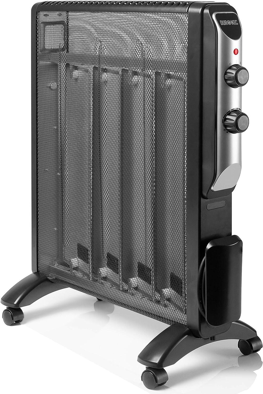 Duronic HV220 Radiador Eléctrico 2000W de Panel de Mica - Estufa sin Aceite Que calienta en 1 Minuto – 4 Ruedas - Bajo Consumo y Ligero