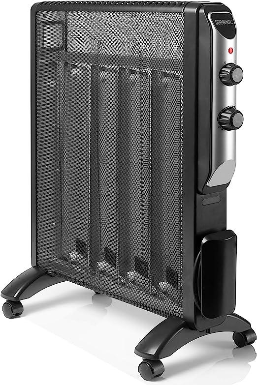 Duronic HV220 Radiador Eléctrico 2000W de Panel de Mica - Estufa sin Aceite Que calienta en 1 Minuto – 4 Ruedas - Bajo Consumo y Ligero: Amazon.es: Hogar