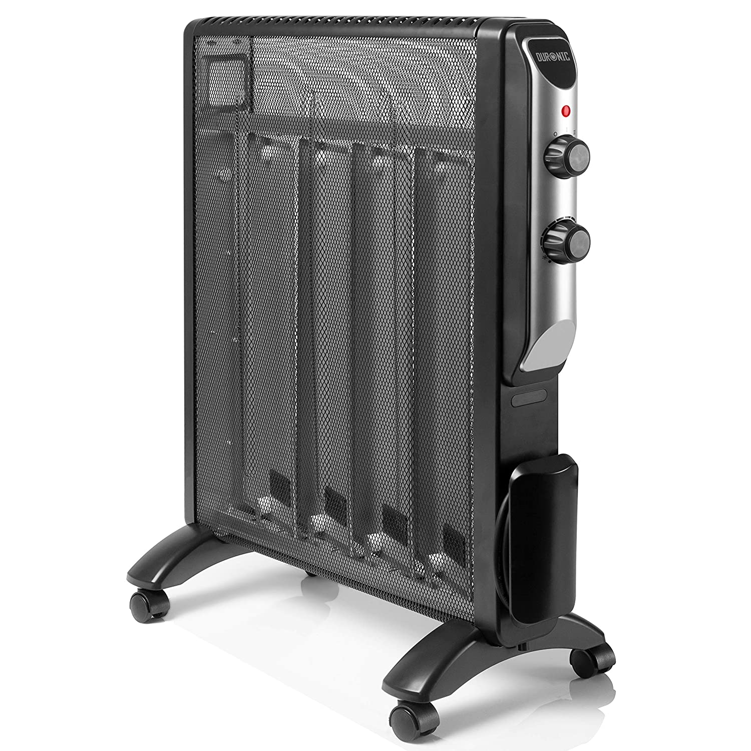 Duronic (Certified Refurbished) HV220 Slimline Black Mica Panel 2.0KW Radiant Convector Heater with Thermostat - Oil Free Heater - Heats up in 1 Minute