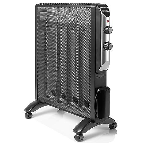 Duronic HV220 Calefactor Radiador Eléctrico Bajo Consumo con Panel de Mica y Termostato, Paneles Calefactores