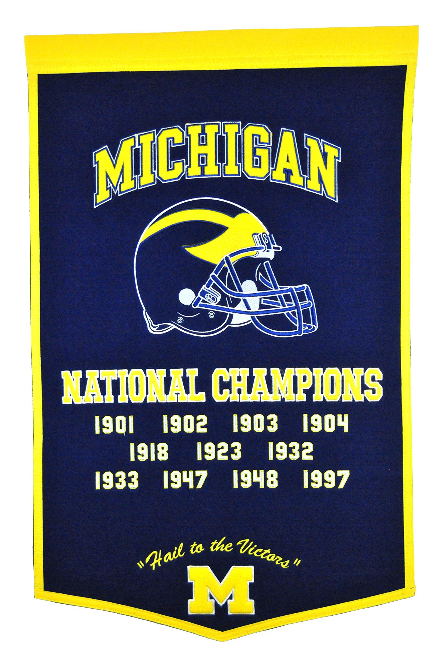 Winning Streak NCAA Michigan Wolverines Dynasty Banner by Winning Streak