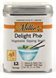 Millie's All Natural Organic Gluten-Free Vegetable Sipping Broth 12 Tea Bags Delight Pho