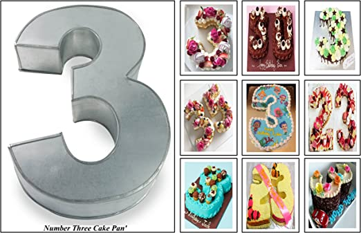 Swell Euro Tins Numeric Cake Pan 35Cm Birthday Cake Tin Number Three 3 Personalised Birthday Cards Cominlily Jamesorg