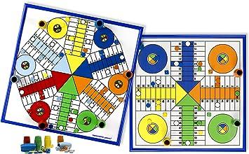 Aquamarine Games - Parchís para 4 y 6 Jugadores, Juego de Mesa (Compudid CPES02): Amazon.es: Juguetes y juegos