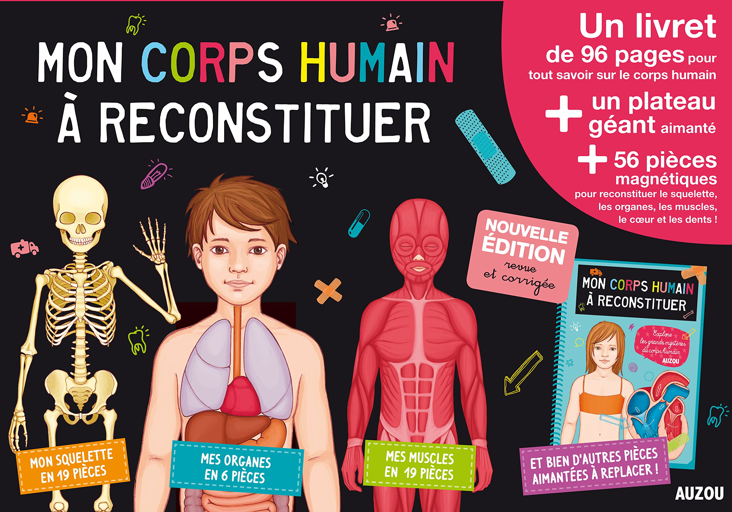 Mon corps humain à reconstituer (nouvelle éd.) Boîte – 25 septembre 2014 Adèle Pedrola Amandine Wanert Auzou 2733830864