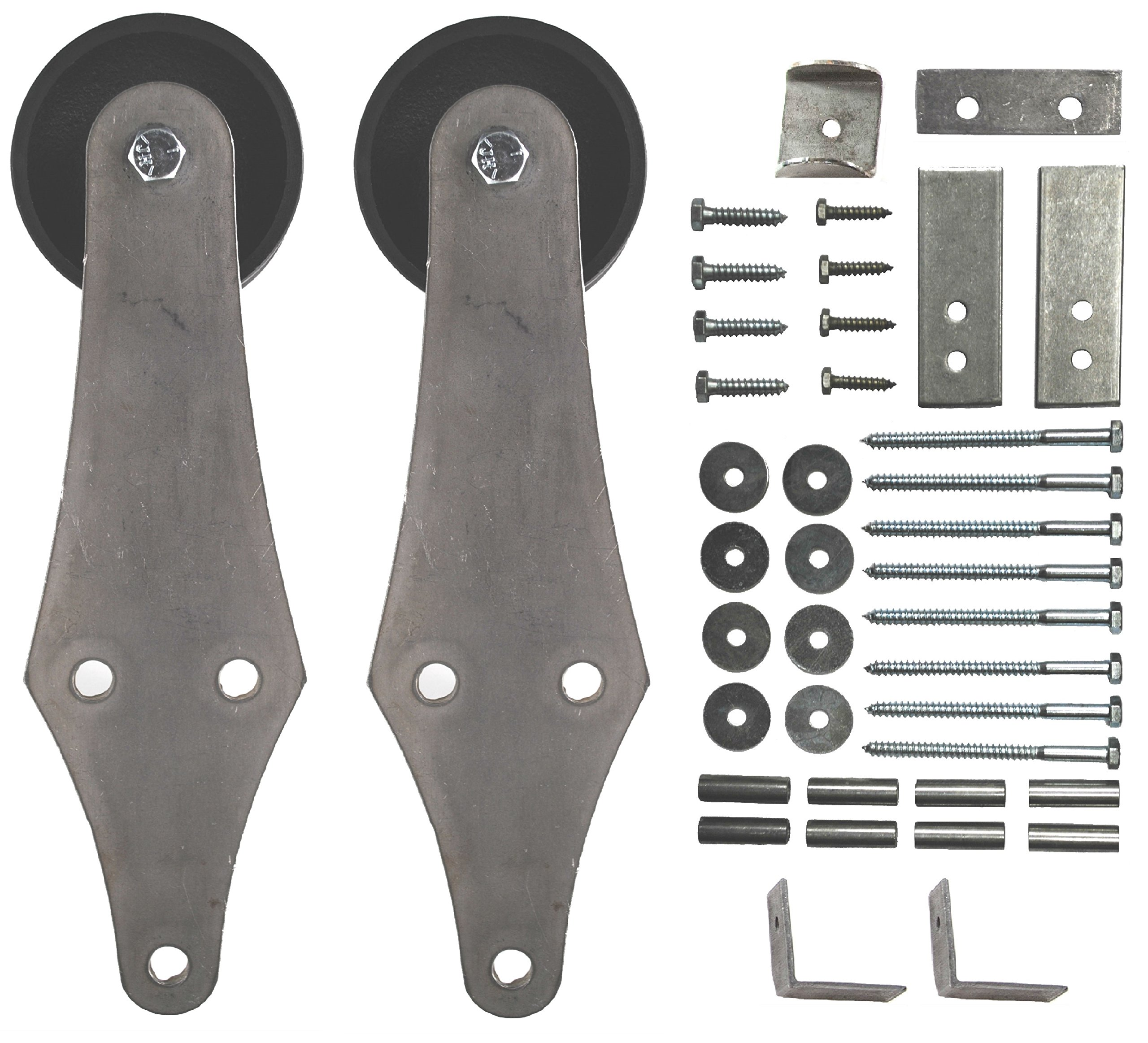 Sliding Barn Door Hanger Kit Hinge Style with Hardware - 2 pcs. (No Track) by Mapp Caster