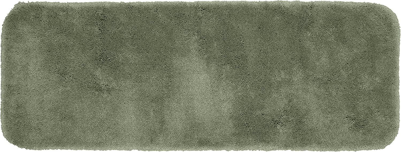 Garland Rug Finest Luxury Ultra Plush Washable Nylon Rug, 22-Inch by 60-Inch, Deep Fern