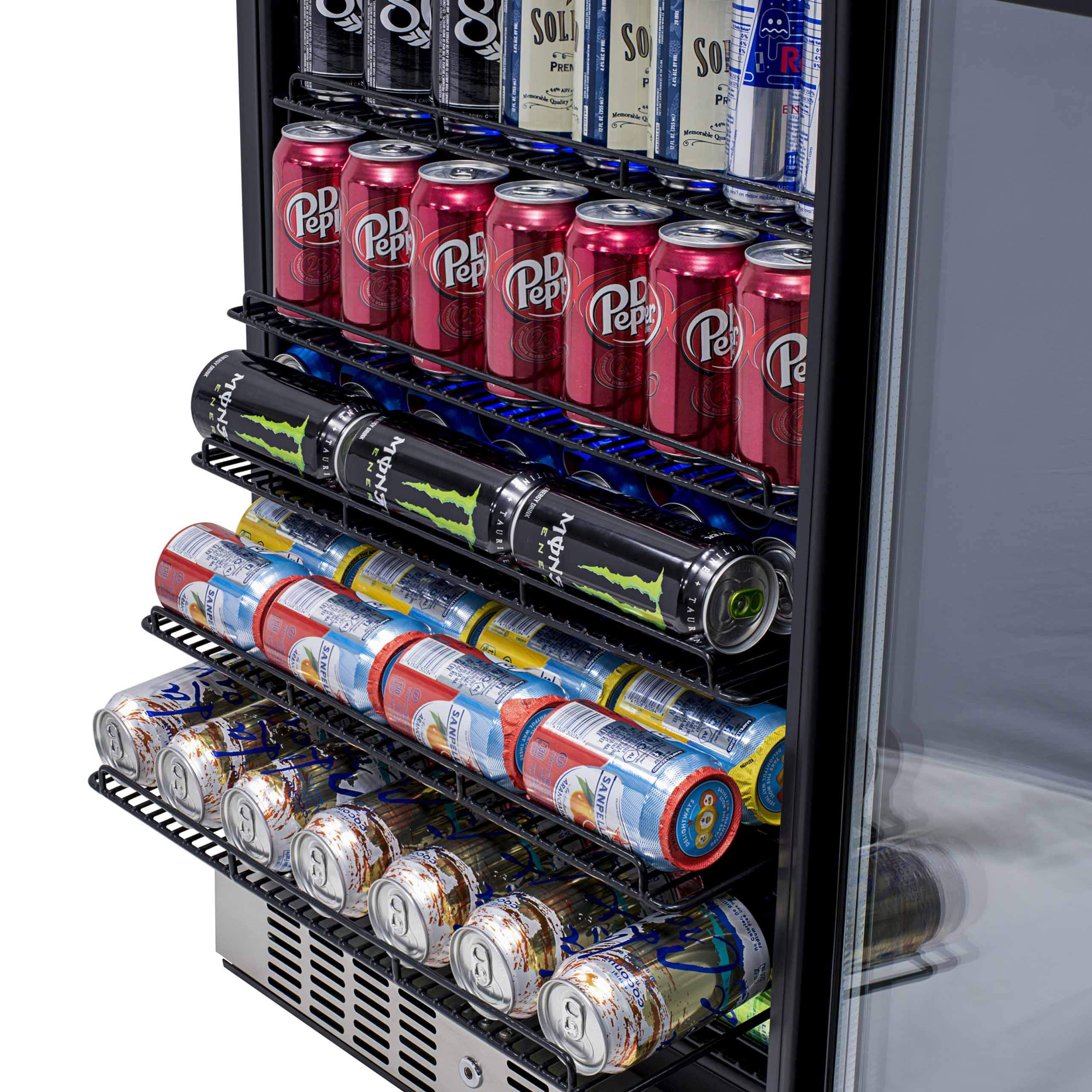 NewAir Built-In Beverage Cooler and Refrigerator, Stainless Steel Mini Fridge with Glass Door,  177 Can Capacity, ABR-1770 by NewAir (Image #8)