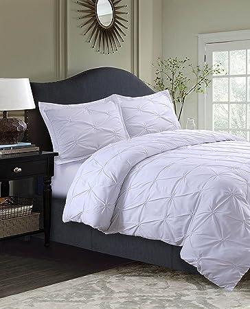 tribeca living sydney 110gsm microfiber duvet cover set white twin - Tribeca Bedroom Set