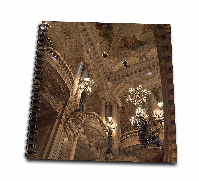 3dRosa Frankreich Innen von Paris Paris Paris Opera House Zeichenheft, mehrfarbig, 20,3 x 20,3 cm B01J3I2JW6  | Genialität  02b5ea
