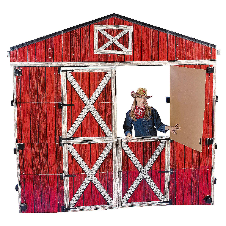 3D Barn Cardboard Stand-Up