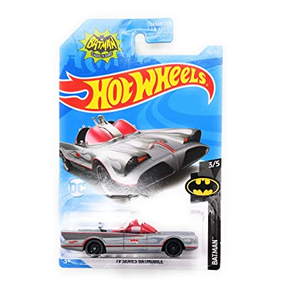 Hot Wheels 2020 DC Batman Series TV Series Batmobile 118/250, Silver: Toys & Games