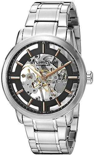 Stührling Original 394.331154 - Reloj automático para Hombre, Correa de Acero Inoxidable, Color Plateado: Amazon.es: Relojes