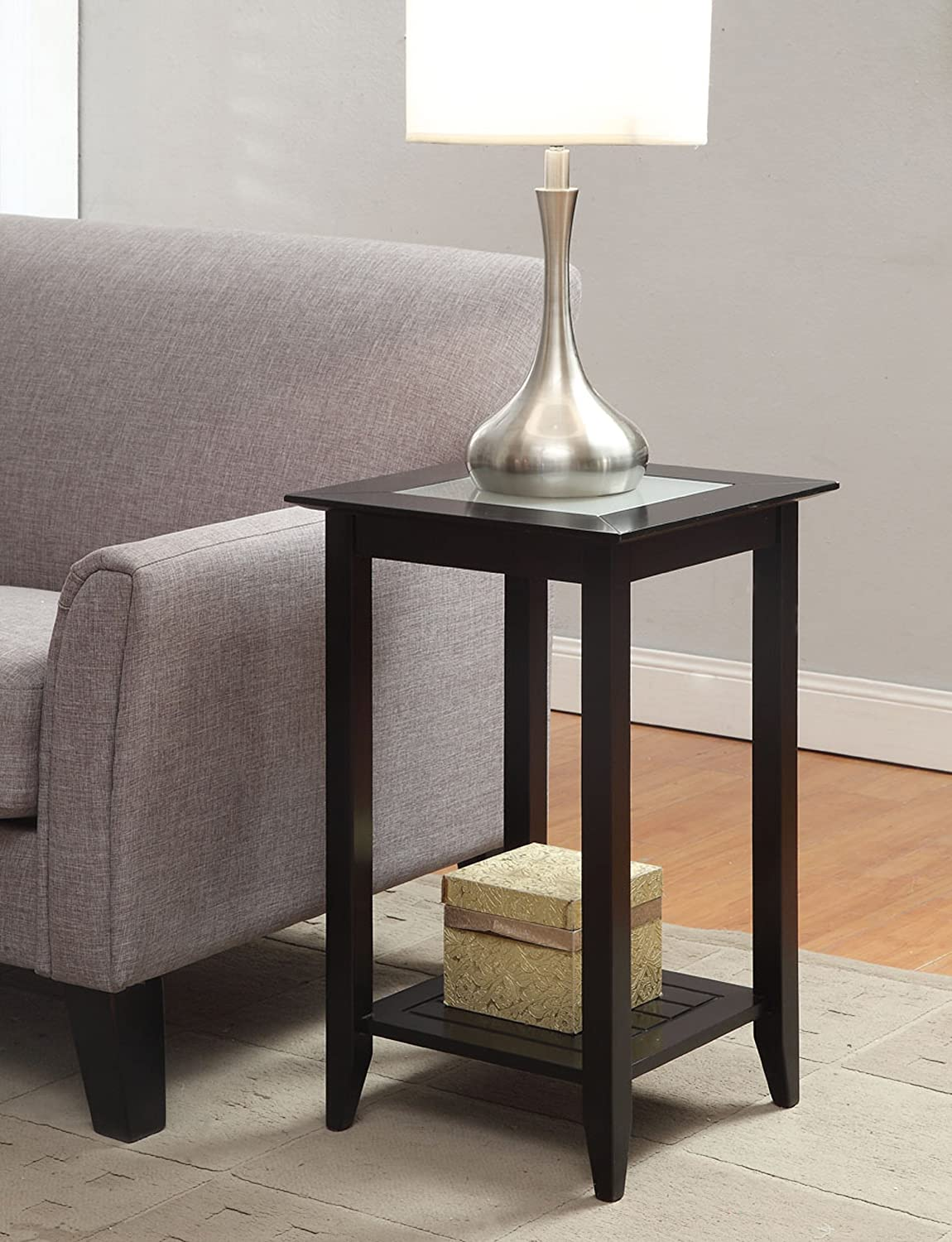 amazoncom convenience concepts carmel end table black kitchen  - amazoncom convenience concepts carmel end table black kitchen  dining