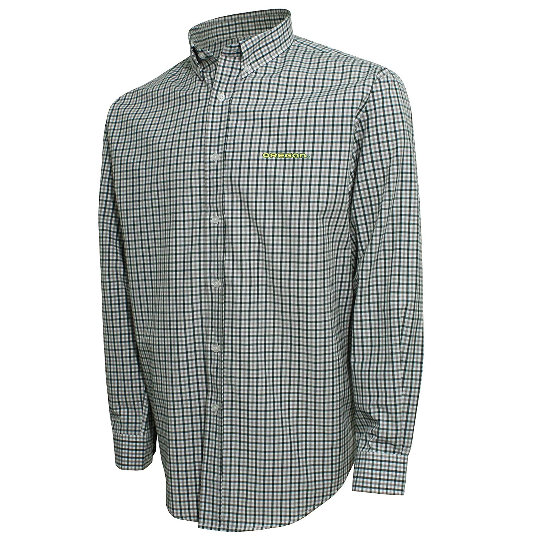NCAA mens Ncaa Mens Campus Specialties Check Shirt,White//Dark Green//Platinum,Small