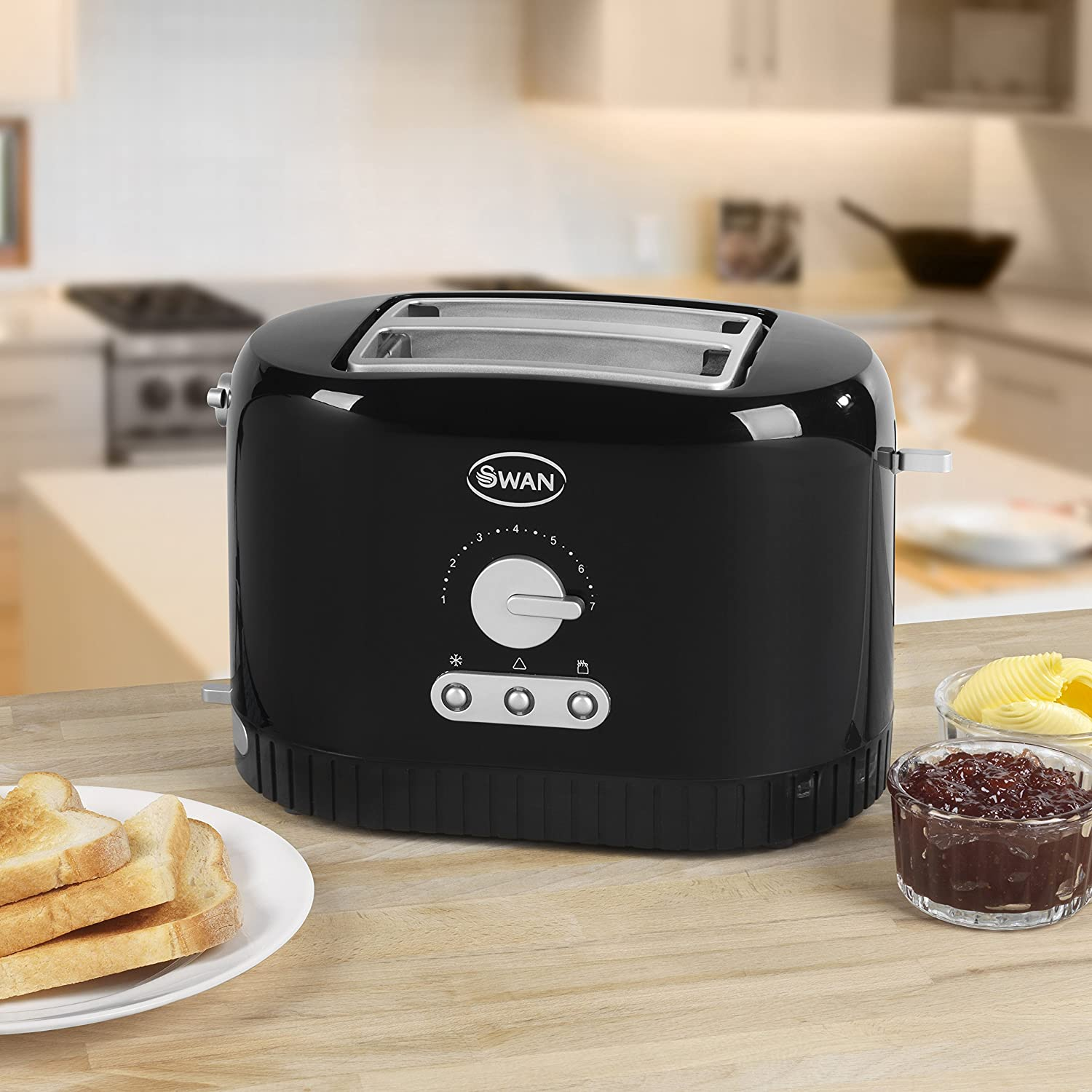 Swan 2-Slice Toaster - Black