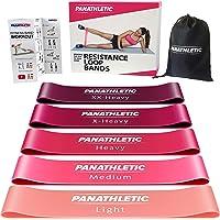 Panathletic Träningsband, Set med 5 Band - 5 Motståndsnivåer, Träningsguide, E-Bok, Förvaringsfodral – 5 st. elastiska…