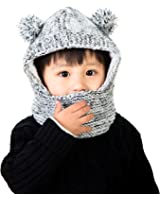 9709e1d1edf Lora Chat Mixte Cagoule Ajustable Chaud Enfant Fille Garçon Bébé Protection  Tour de Cou ...