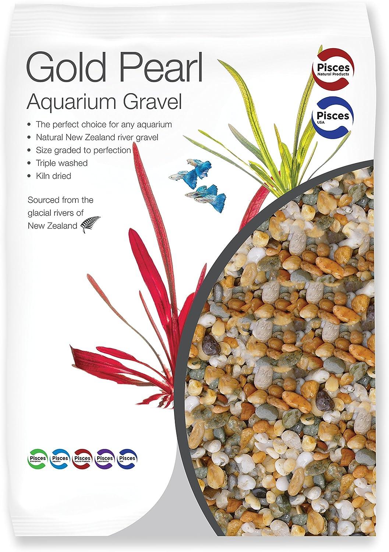 Pisces 22 lb Gold Pearl Aquarium Gravel, Large