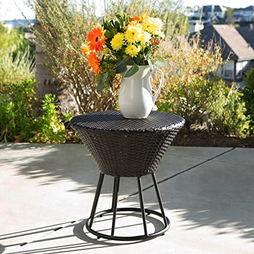 Christopher Knight Home Crete Wicker Outdoor Accent Table