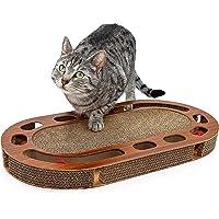 Pfotenolymp® katt lekbräda - interaktiv kattleksak/klöbräda gjord av korrugerad kartong - klösbräda - matleksak med…
