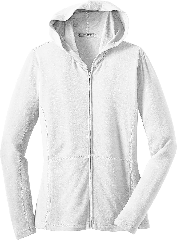 Port Authority Women's Stretch Cotton Full-Zip Jacket White L519 4XL