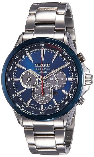 Seiko Reloj Cronógrafo para Hombre de Energía Solar con Correa en Acero Inoxidable SSC495P1