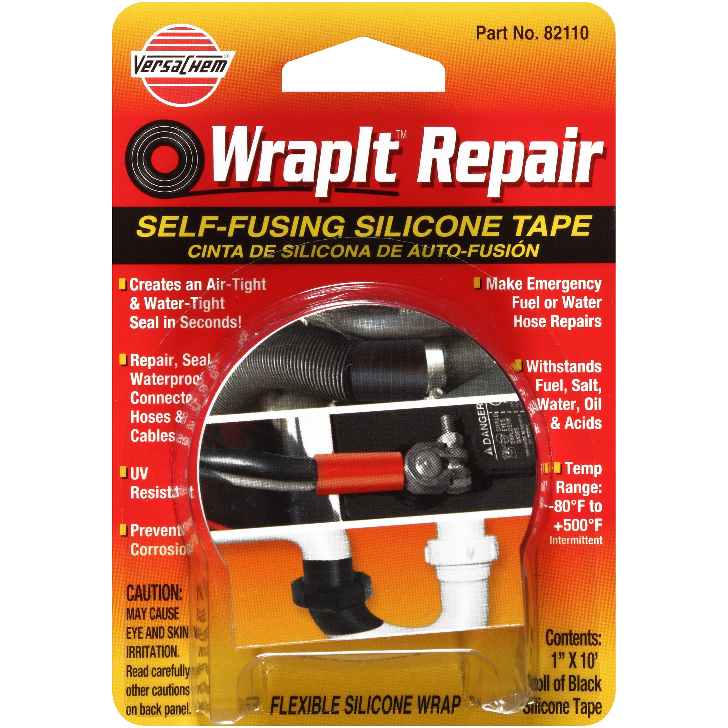 Versachem 82110 WrapIt 1'' x 10' Repair Silicone Tape