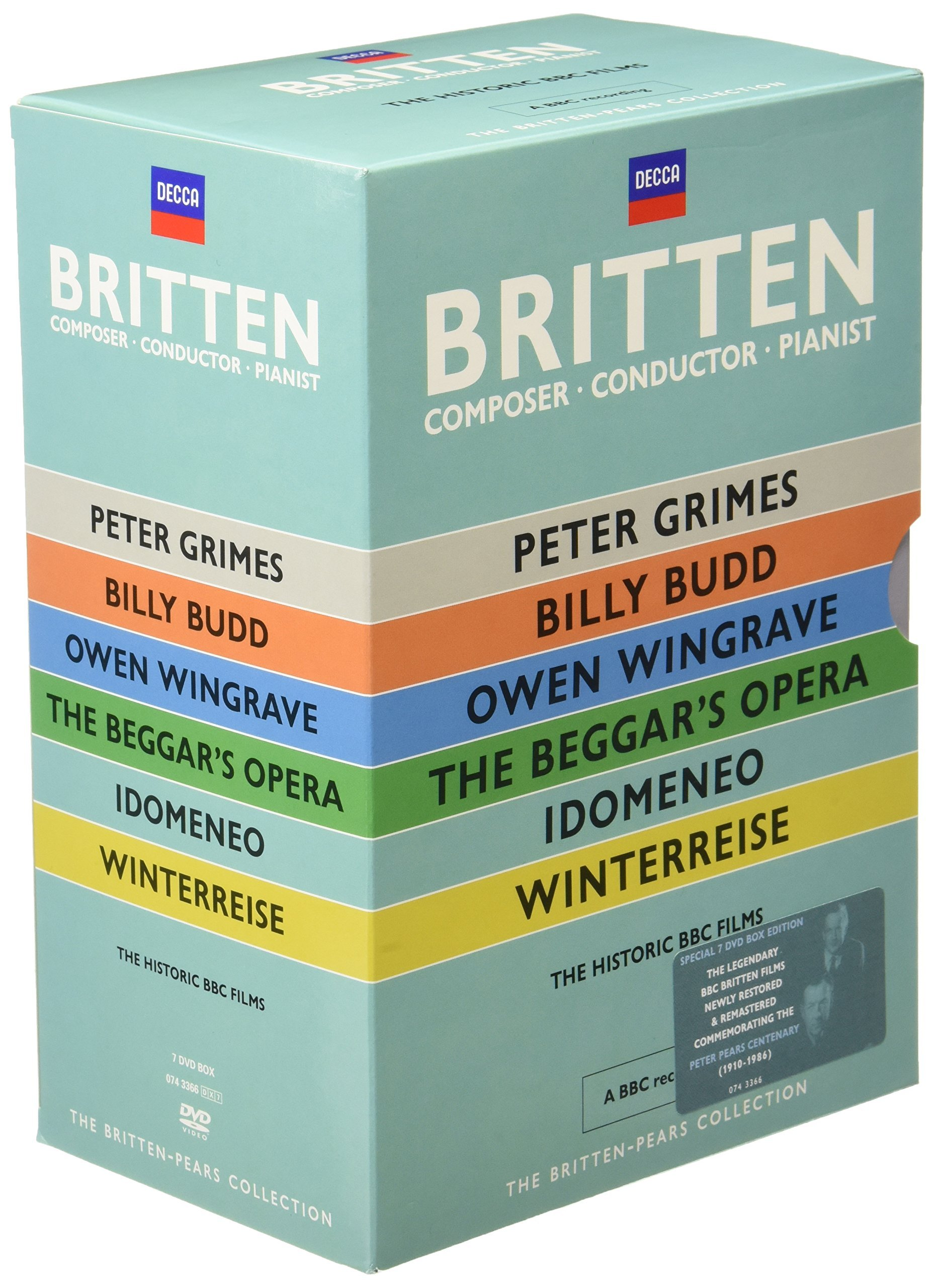 DVD : Peter Pears & Benjamin Britten - Britten: Pears Collection (6PC)