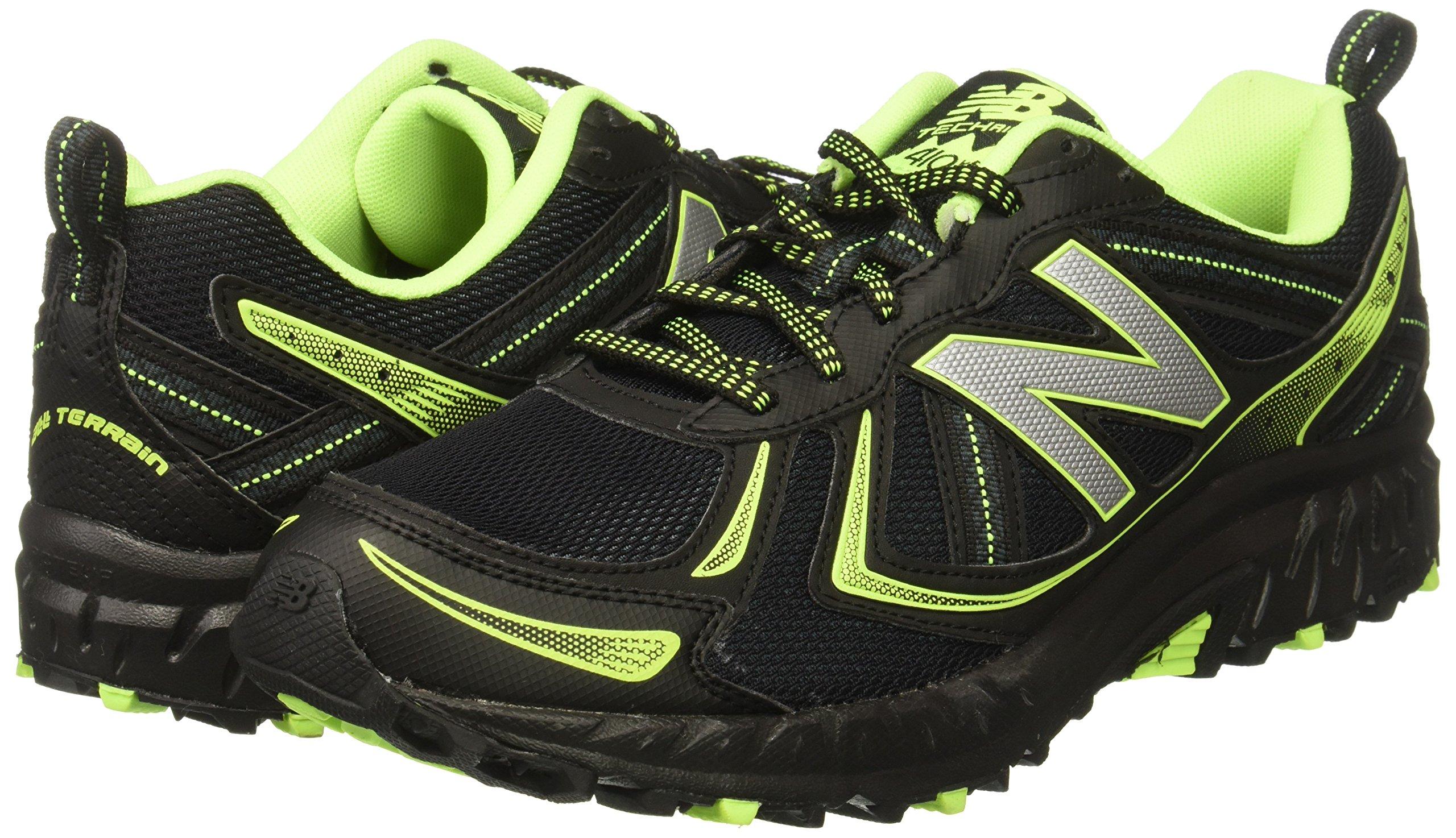New Balance Men's MT410v5 Cushioning Trail Running Shoe, Black, 8 D US by New Balance (Image #6)