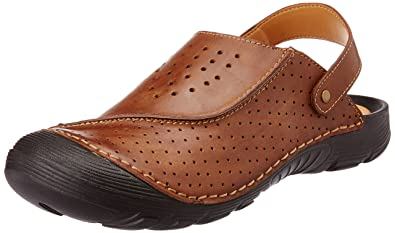 8f9065fc4cf Image Unavailable. Image not available for. Colour  Miraatti Men s Coffee  leather Sandals ...