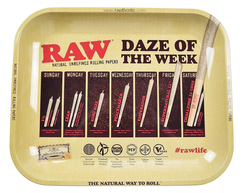 RAW Daze of The Week Metal Rolling Tray (Large 13.5x11) HBI International