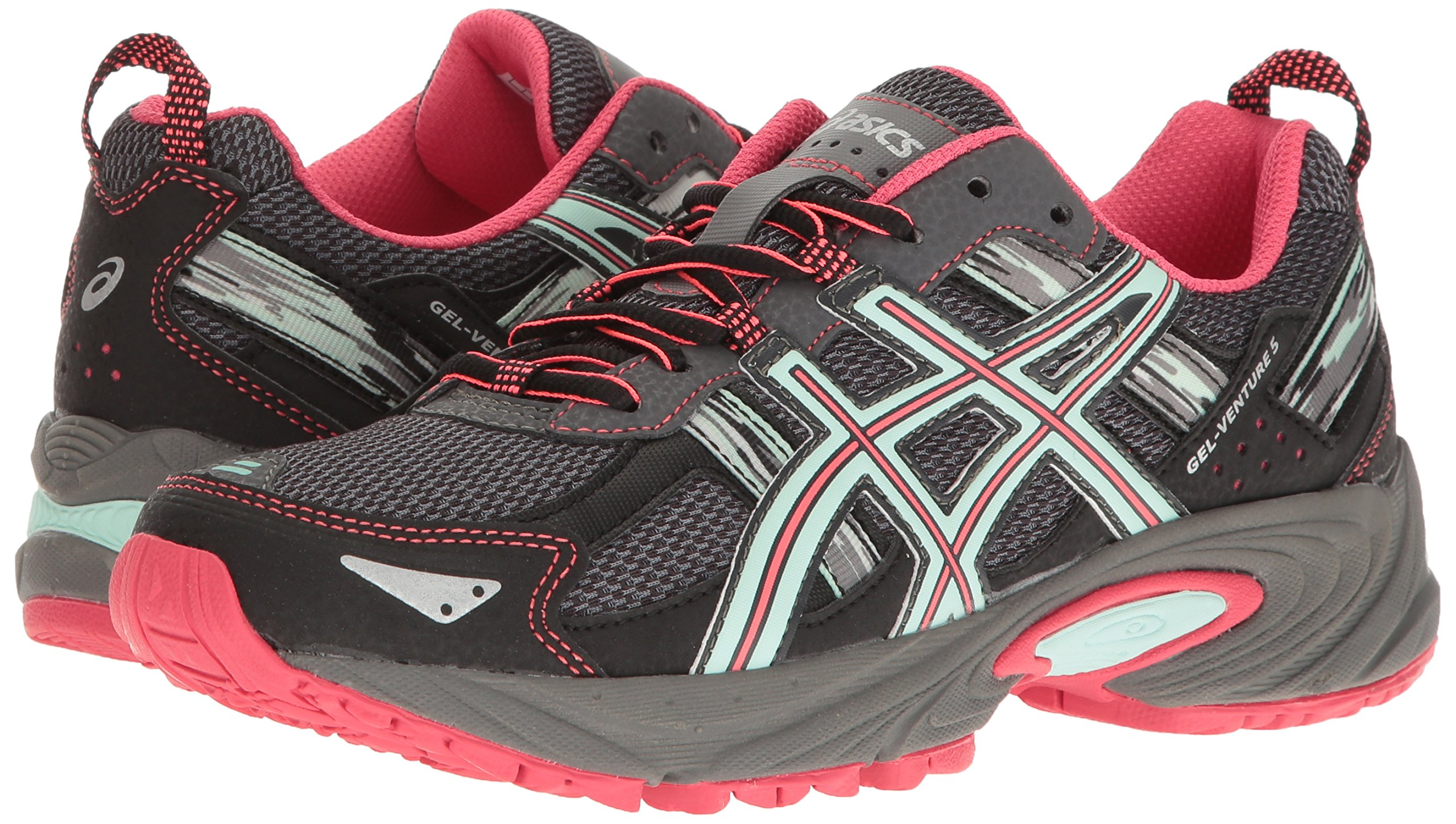 ASICS Women's Gel-Venture 5 Trail Runner, Carbon/Diva Pink/Bay, 9 M US by ASICS (Image #6)