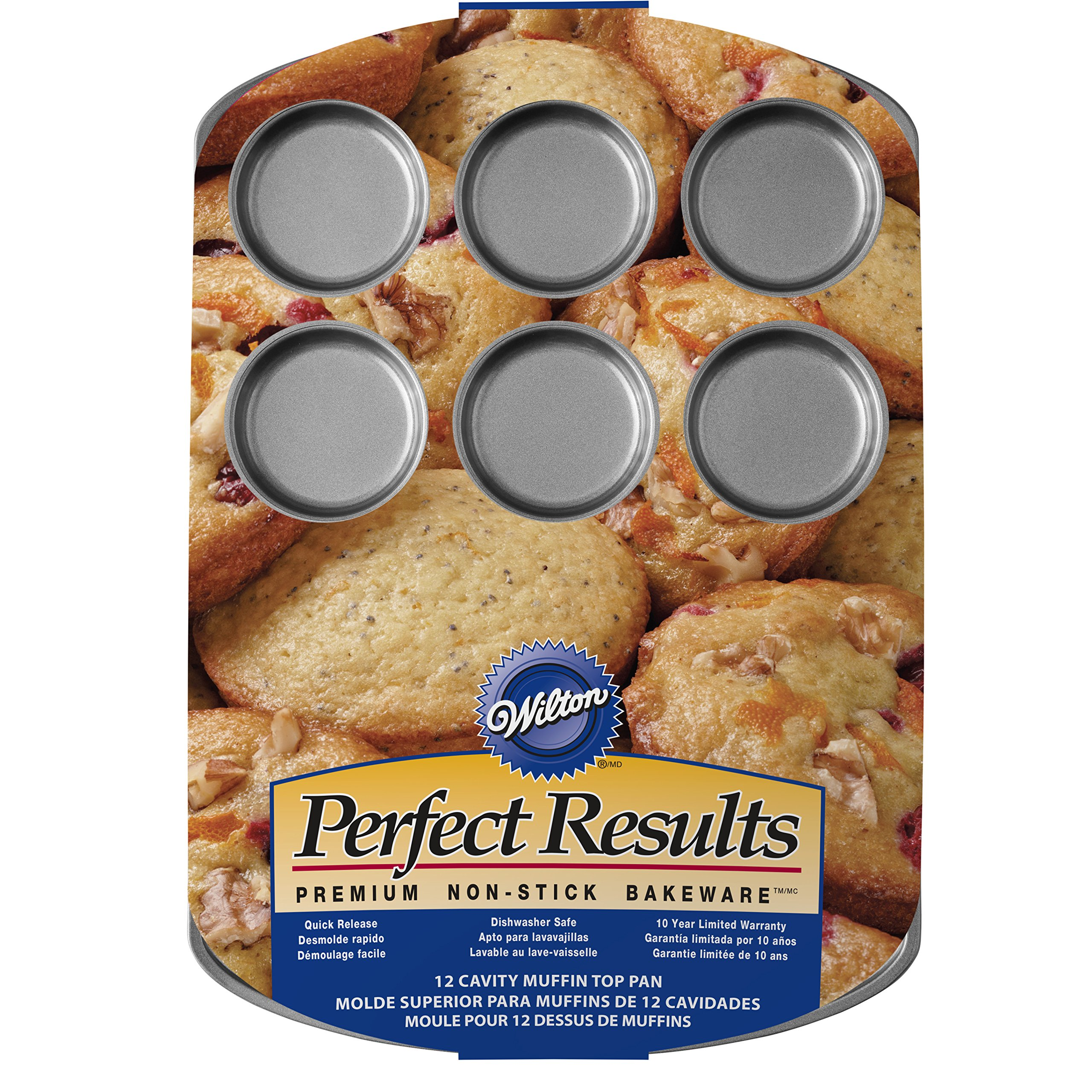 Wilton Perfect Results Premium Non-Stick Muffin Top Baking Pan, 12-Cup by Wilton (Image #3)