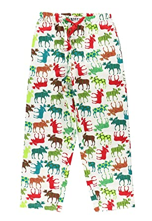 Unisex Moose Animal Pajamas by LazyOne | Mens Womens PJ Pant Shirt Christmas (X-