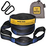 Wise Owl Outfitters XL Hammock Straps Combined 20 Ft Long, 38 Loops with 2 D Carabiners - Easily Adjustable Tree Friendly Mus