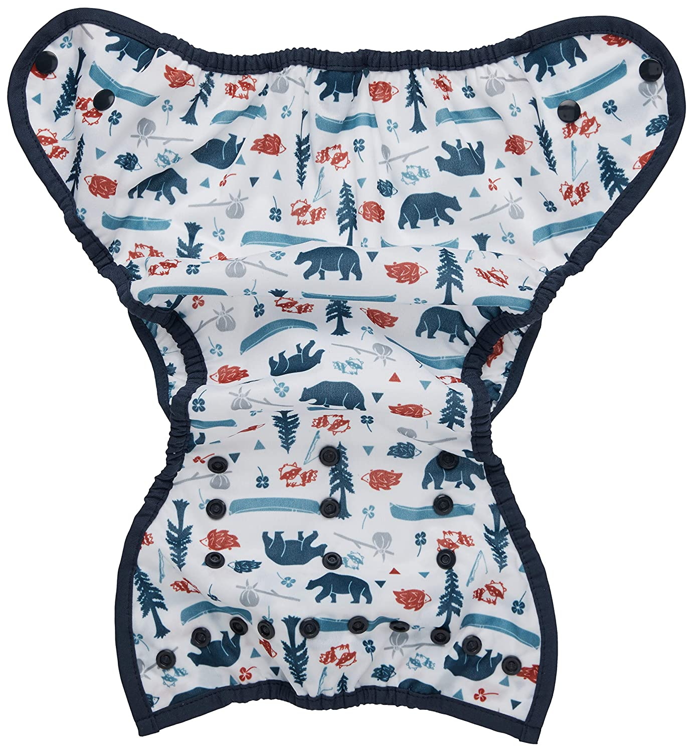 Aqua Thirsties Duo Wrap Snap Diaper Cover Size 1