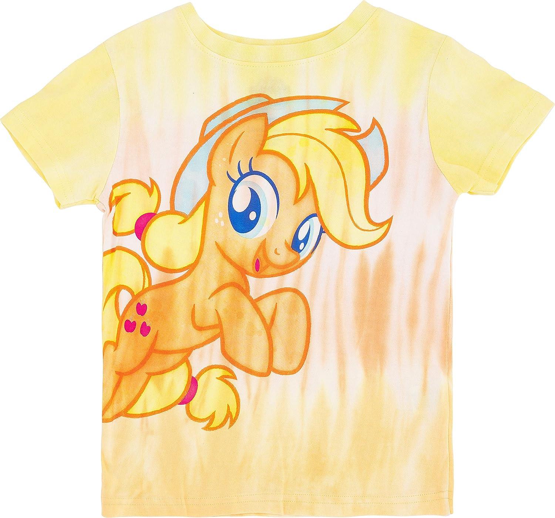 My Little Pony Girls Tie Dye Graphic T-Shirt - Rainbow Dash, Pinkie Pie, Twilight Sparkle, Apple Jack, Sizes 4-6X