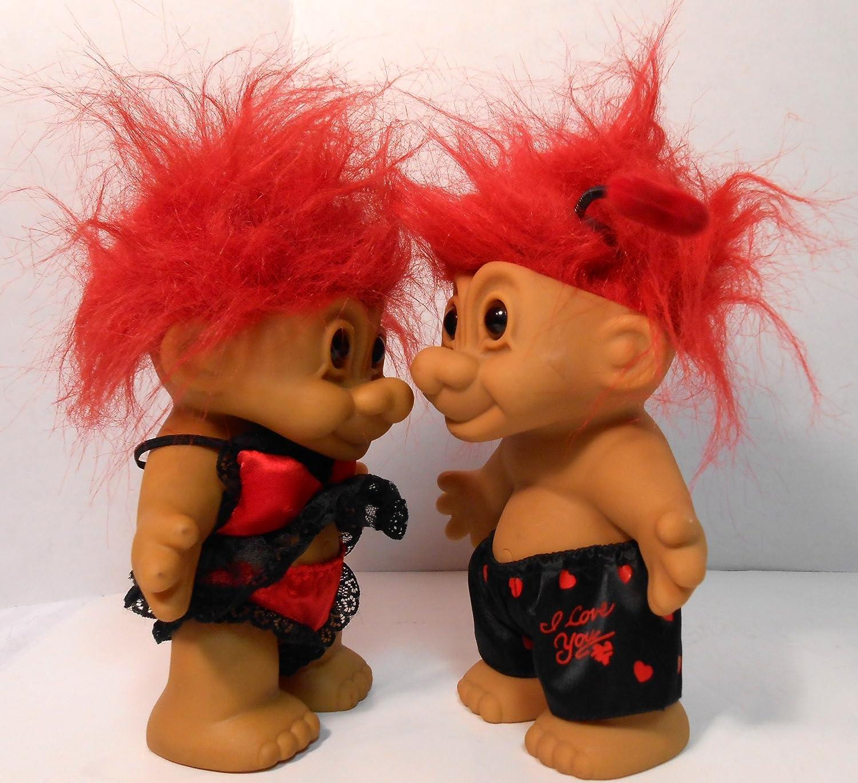 Russ Cute Troll Doll Valentine Couple/'s ~ Set Of 4