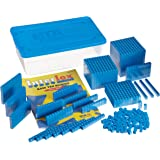 ETA hand2mind Blue Interlox Base Ten Blocks, Starter Set (Set of 161)