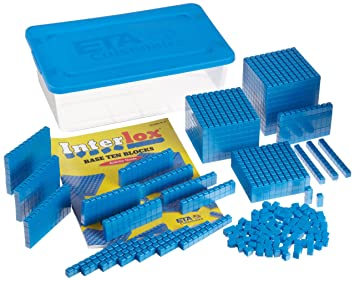ETA hand2mind Interlox Base Ten Blocks, 161-Piece Starter Set ...