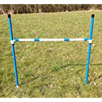 stick in the ground dog agility jump with fully adjustable height. (due to amazons new postage policy we can only post this item to mainland uk (England, Wales, and Scotland only)) (single blue jump)