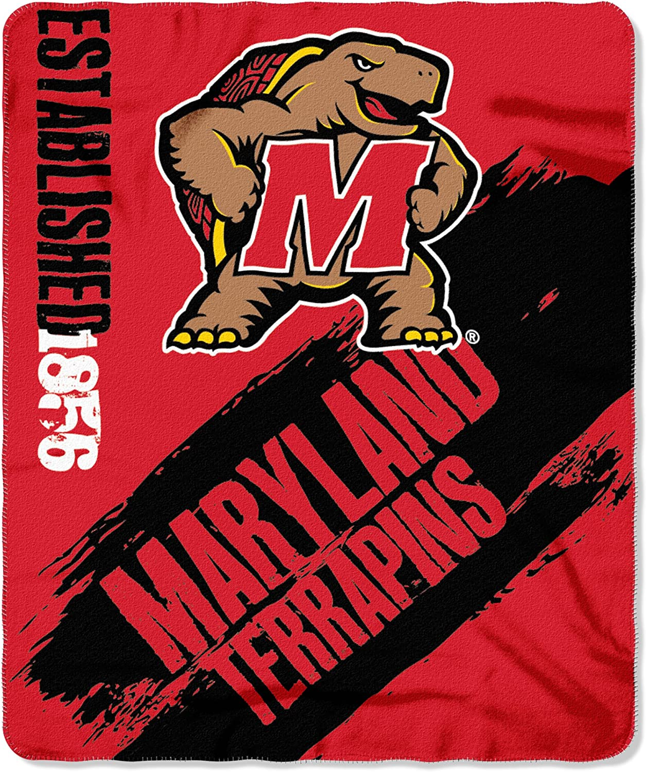 50 x 60 Officially Licensed NCAA Painted Printed Fleece Throw Blanket Multi Color