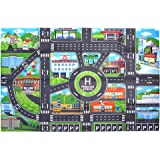 BCP Non-Woven Fabrics Traffic Sign Street City Fun Play Map for Kids 33 x 23 Inches